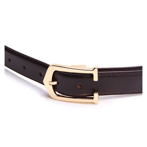 Is Cowhide Leather Real Leather genuine cowhide leather belt brown 86308