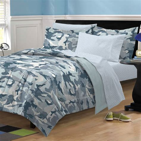 new geo camo steel blue gray camouflage bedding kid