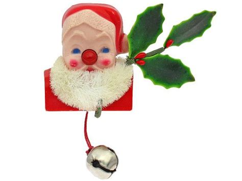vintage christmas pin light up nose santa by