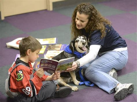 reading to dogs read to dogs at batavia library