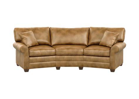 bennett leather sofa bennett conversation leather sofa sofas loveseats
