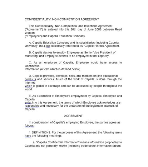 59 Best Of Insurance Non Compete Agreement Template Agreement Form Insurance Non Compete Agreement Template