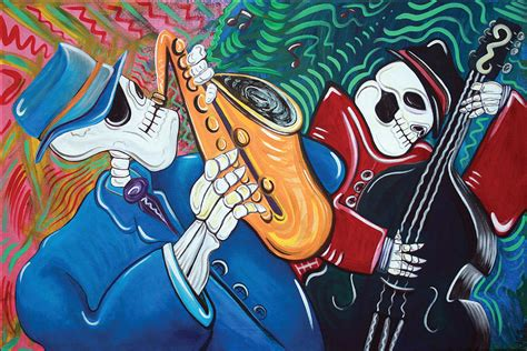 Bad Blues the bad blues bone band painting by barbosa