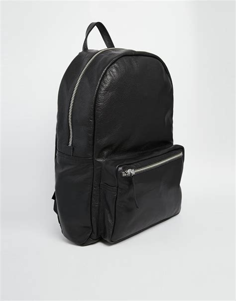 Black Backpack black and white leather backpack cg backpacks