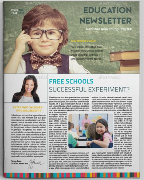 15 Free Microsoft Word Newsletter Templates For Teachers School Xdesigns Easy Newsletter Templates For Teachers