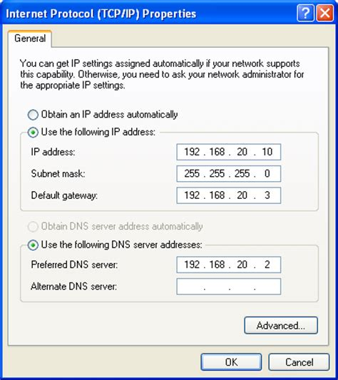 configure xp multiple domains configuring static ip and dhcp on windows