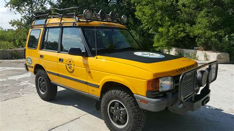 yellow land rover discovery 1996 land rover discovery xd eco challenge land rover
