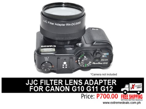 Adapter Canon Prosumer G10g11g12 jjc canon g10 g11 g12 filter lens adapter accessories shop store manila philippines