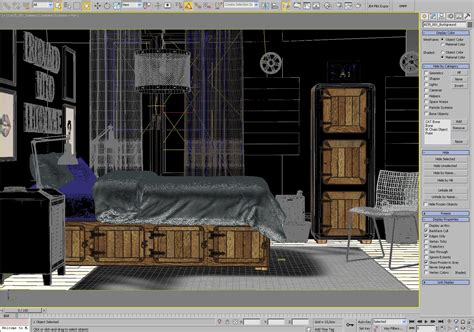 making of cosy bedroom scene evermotion