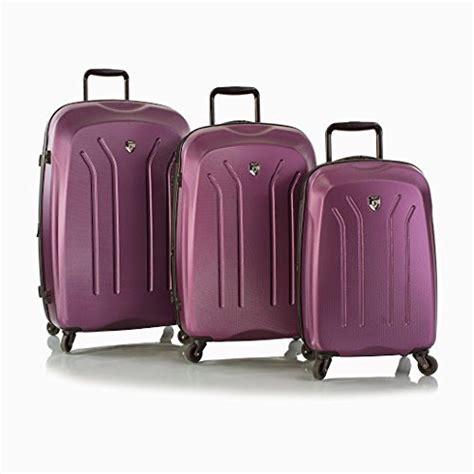 heys lightweight pro purple 3 spinner luggage set