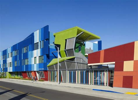 home design school in los angeles eye popping sres 2 rainbow school brightens up a rundown