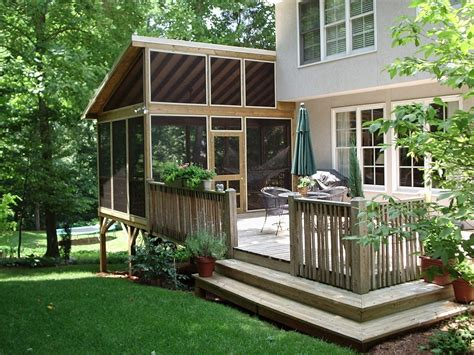 Temporary Deck by Portable Screen Porch For Deck