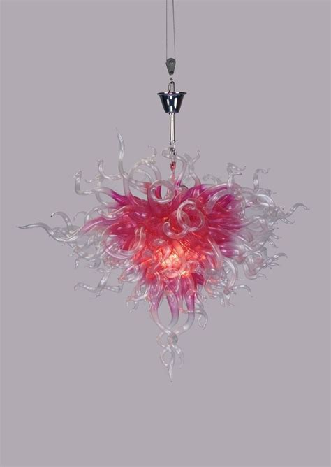 chihuly style chandelier pink glass chandelier chihuly style lighting