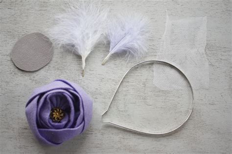 How To Make A Paper Headband - how to make a headband fascinator with feathers tulle