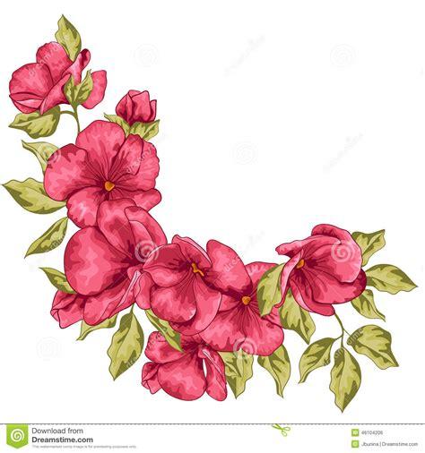 Wedding Card Design Flowers by Wedding Card Flowers Vector Illustration Stock