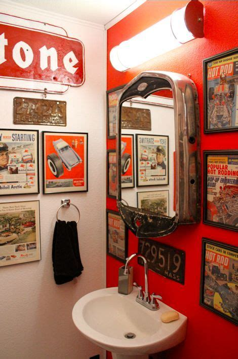 hot rod home decor hot rod bathroom that mirror is amazing diy and home