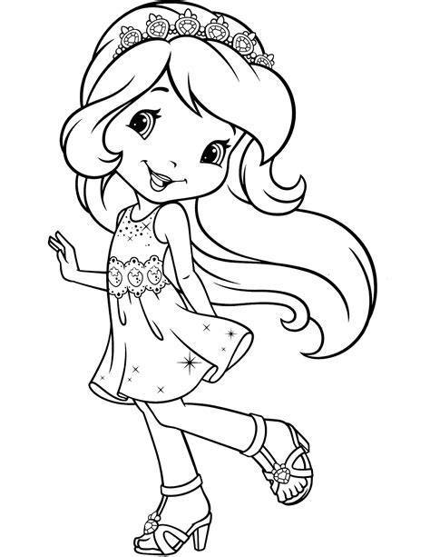 strawberry shortcake printable coloring pages coloring pages
