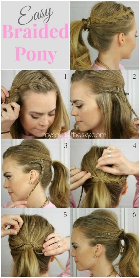 easy hairstyles for short hair for school 14 braided ponytail hairstyles new ways to style a braid