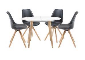 espen extending round table and 4 dining chairs