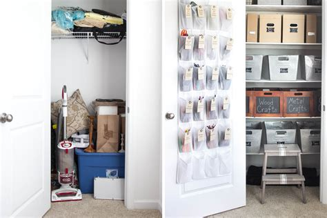 Utility Closet Organizers by 10 Organized Closet Before Afters
