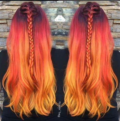 sunset colored hair how to fiery sunset color melt hair color modern salon