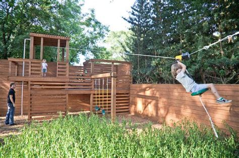 backyard zip line http www houzz photos 1426659 ch