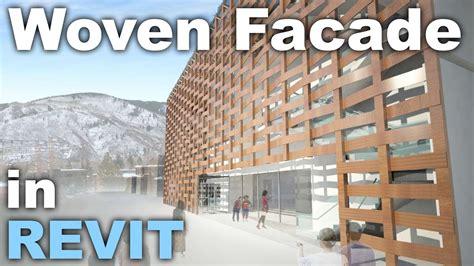 revit tutorial facade woven facade in revit tutorial youtube
