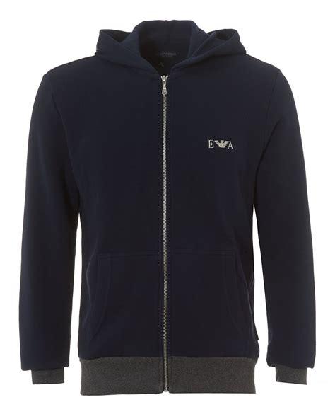 Sweater Jaket Hoodie Eiger Logo emporio armani mens zip up hoodie navy blue logo hooded sweater