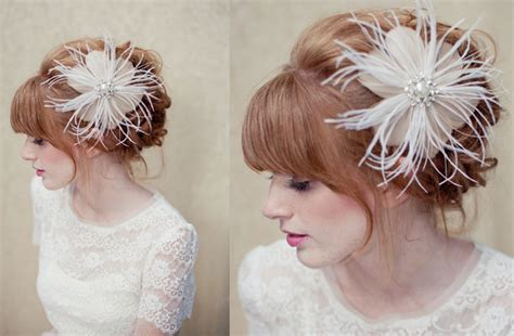 Vintage Bridal Hair Fascinators by Feather Bridal Fascinator Wedding Hair Accessories Vintage