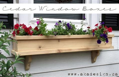 how to build a window box planter how to make a drop leaf dining table cedar window planter
