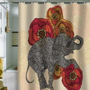 rococcola happy elephant shower curtain rococcola happy elephant shower curtain