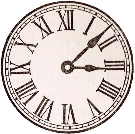 printable antique clock faces antique clock face graphics from school book pinterest