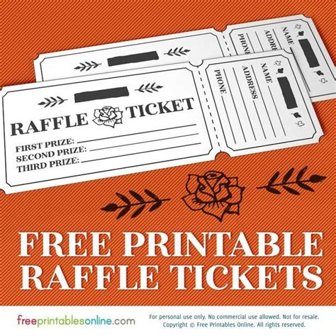 template for raffle tickets printable rosy raffle tickets free raffle template free