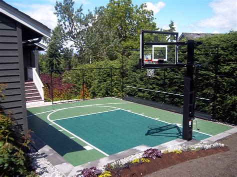 backyard sport court backyard sport court traditional landscape seattle