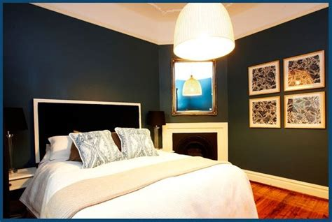 navy blue bedroom walls paint colour wattyl midnight
