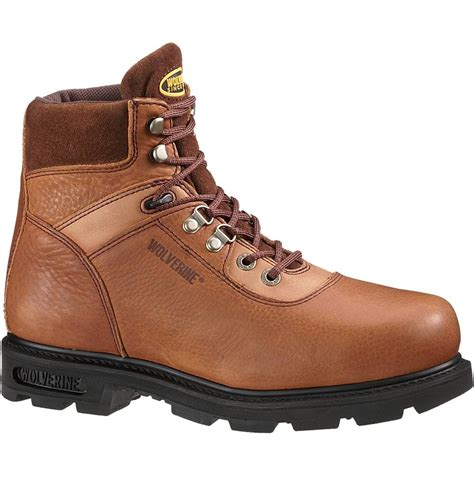 steel toe work boots wolverine traditional 6 inch steel toe work boot w04013