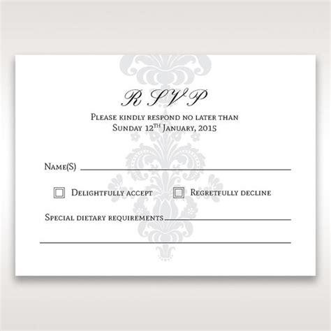 rsvp letter wedding invitations majestic damask ivory pocket for your wedding letter