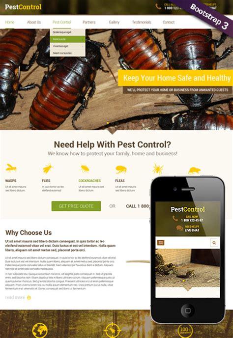 Pest Control Responsive Joomla Theme Pest Website Template