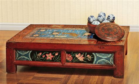 Painting Coffee Table Painted Mongolian Coffee Table Asian Chicago By China Furniture And Arts