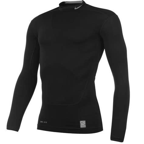Baseslayer Nike Procombat Shirtsleeve nike mens pro combat mock base layer top sleeves compression fit ebay