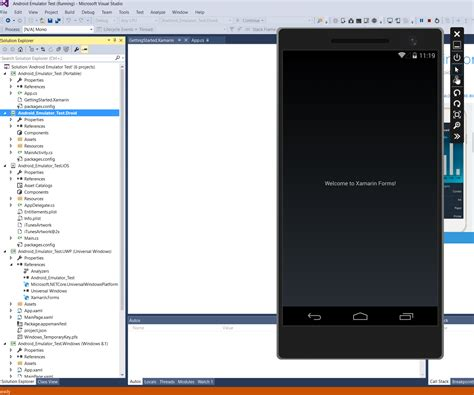 visual studio android debug your xamarin apps with the visual studio android emulator microsoft imagine channel 9