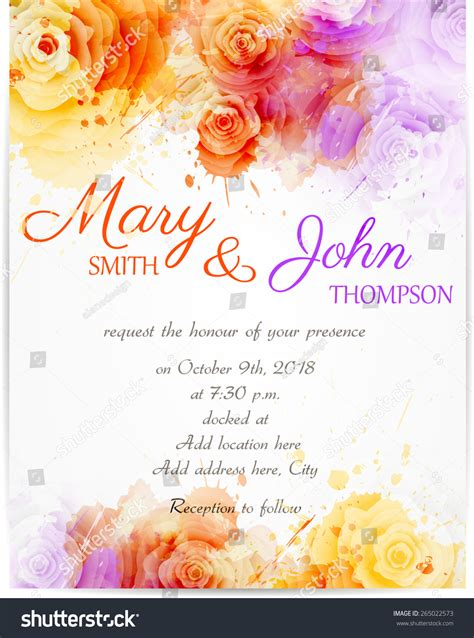 Vector Backgrounds With Roses For Invitations wedding invitation template abstract roses on stock vector