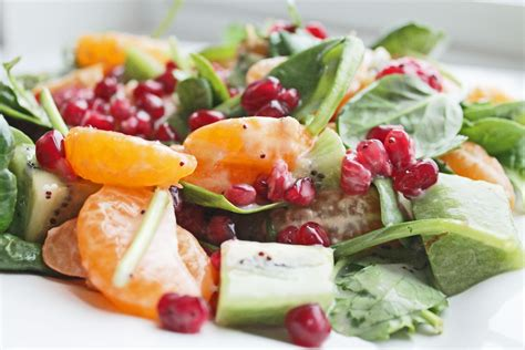 healthy salad recipes healthy salad recipe with fruits and spinach clean