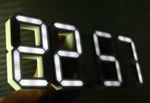 cool digital clock white white a 3d digital wall clock