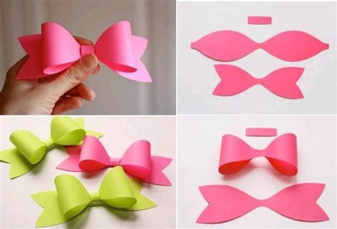 How To Make Simple Paper Crafts - how to make paper craft bow tie step by step diy tutorial