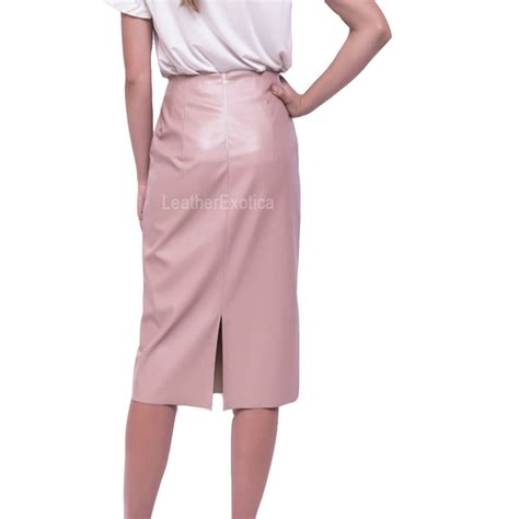 special stylish leather pencil skirt for