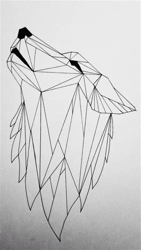 imagenes animales geometricos precioso como un lobo traicionero como el mismo tattoo