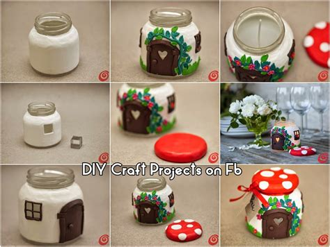 diy crafts for your home glass jar house diy craft projects