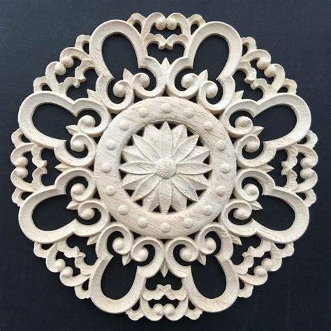 Wallpaper Sticker Motif Kayu 1 solid wood carving corner flower applique fashion