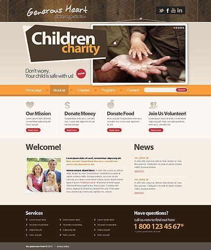 Charity V2 5 Joomla Theme Best Website Templates Charity Website Templates